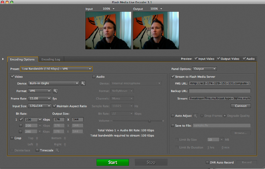 Flash media live encoder – musings and stuff.