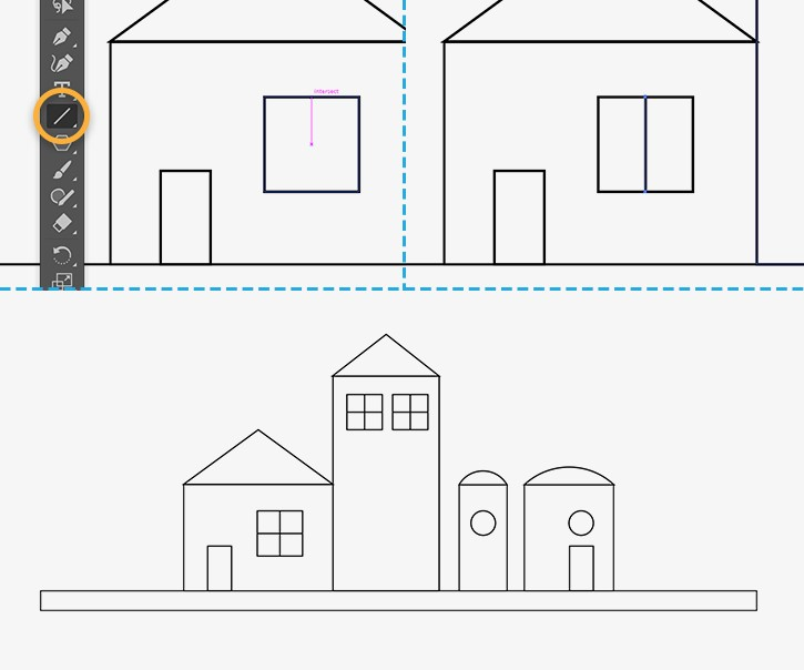 Drawing Lines With Adobe Illustrator : How to draw buildings in illustrator adobe