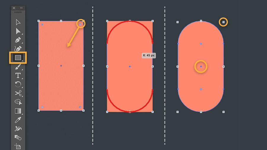How To Smooth Drawing Lines In Illustrator : Work with live shapes in illustrator adobe cc tutorials
