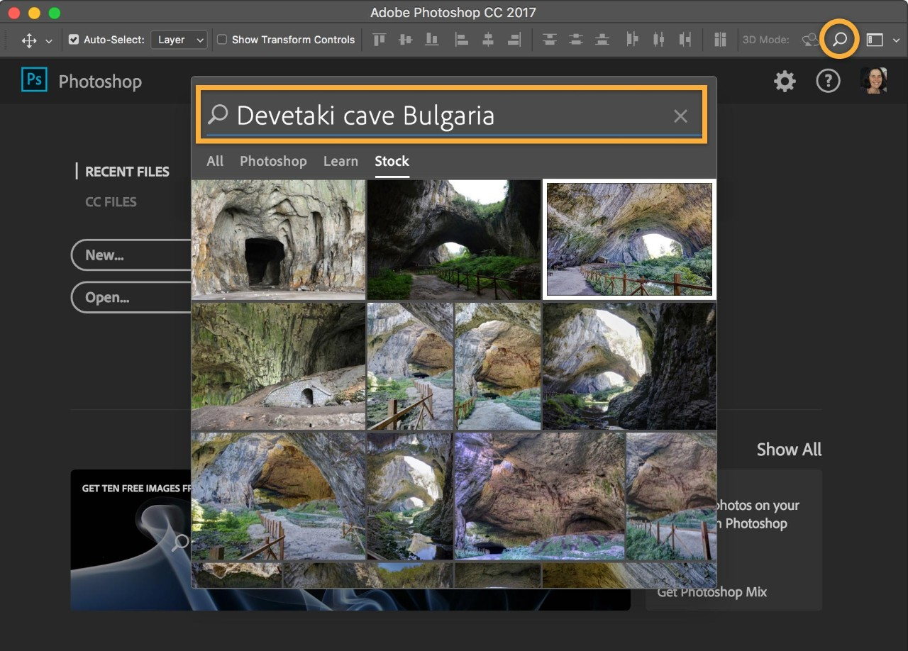 Photoshop for beginners adobe photoshop cc tutorials in the search field type a search term click the image you wish to use and the libraries panel will open with a watermarked preview of the image baditri Choice Image