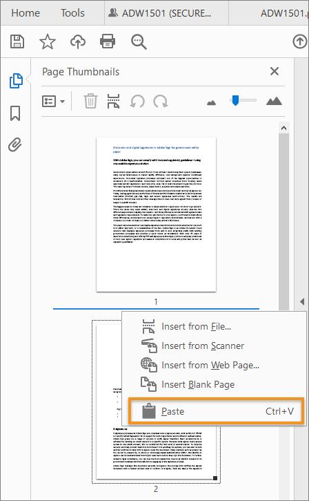 ترقيم ملف pdf