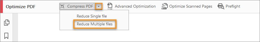 ضغط ملفات PDF متعددة