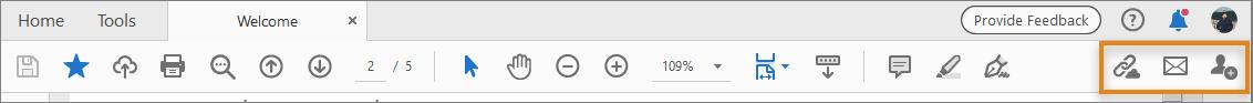 وصول مبسّط بنقرة واحدة إلى مشاركة الملفات