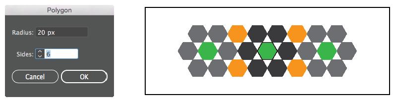 خيارات الأداة Polygon