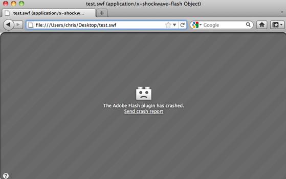 flash player crashes mac os x