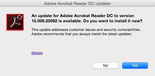 kan ikke downloade adobe reader