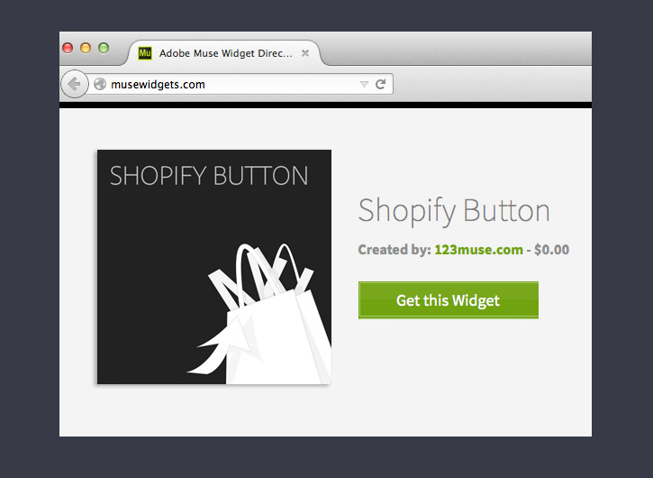 Get the Shopify Button widget