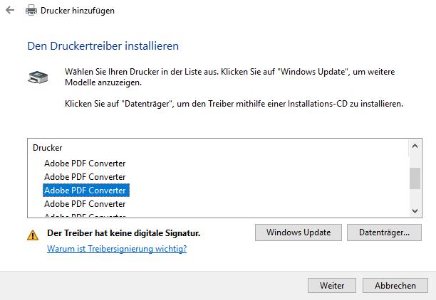 Adobe PDF-Drucker fehlt  PDF-Drucker manuell installieren
