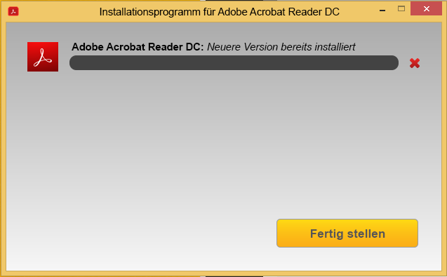 Installieren Sie vom Acrobat Reader Download Center aus