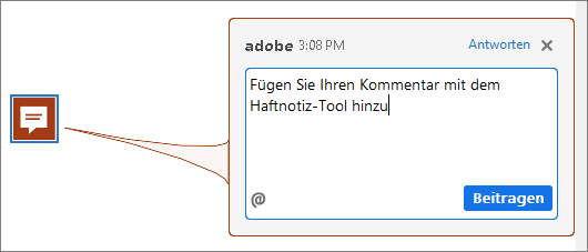 Notizkommentar in Acrobat