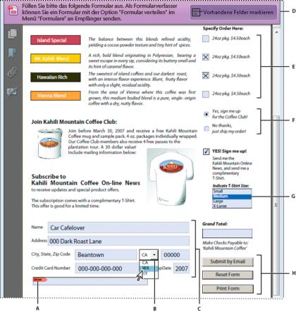 Erstellen und Verteilen von PDF-Formularen in Adobe Acrobat
