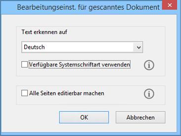 Bearbeiten Gescannter Pdf Dateien Deaktivieren Der Automatischen