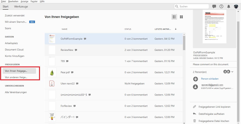 Dateien Mit Adobe Acrobat Online Freigeben