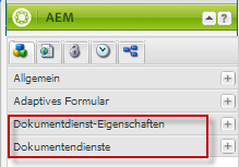 Forms Portal-Kategorien in AEM Sidekick