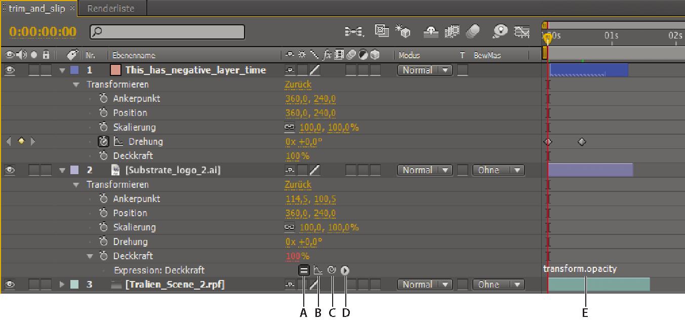 Verknüpfen von Animationen in Adobe After Effects mit den Grundlagen ...