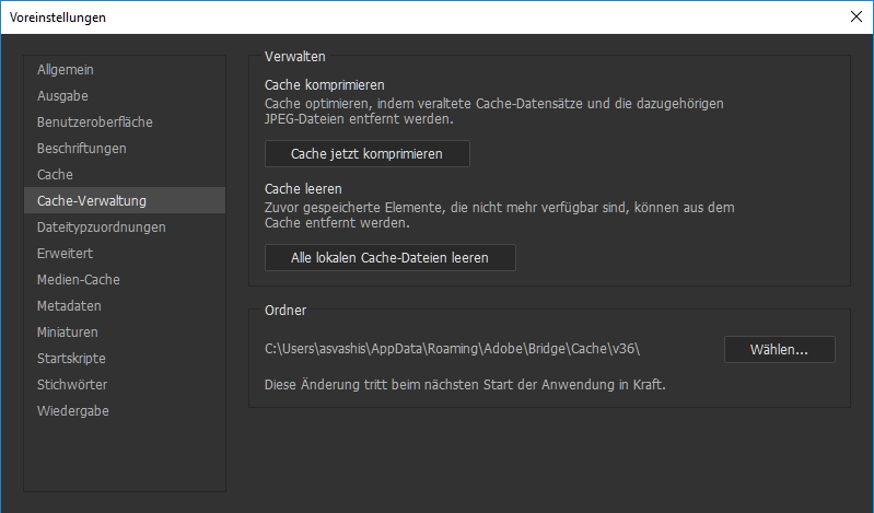 how to clear adobe cache