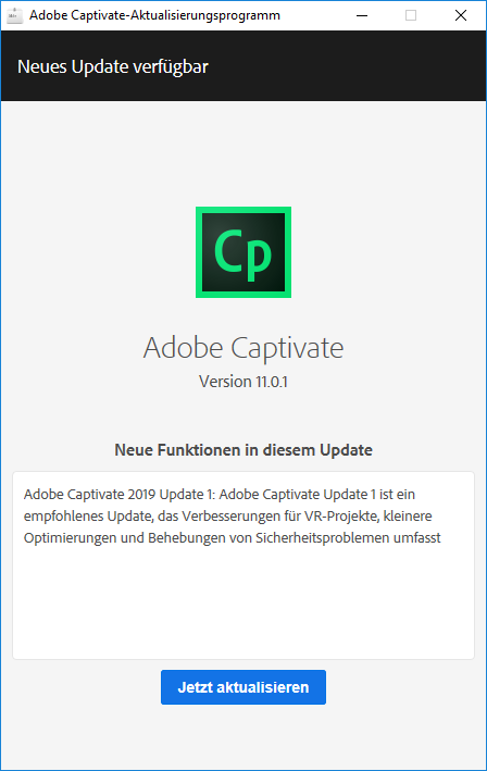 Adobe Captivate Updater