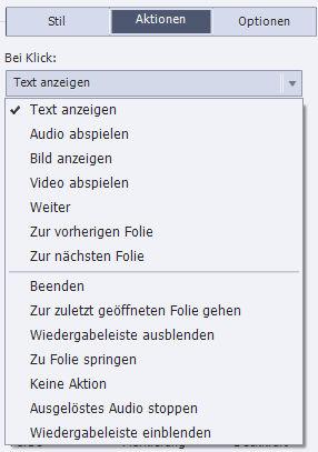 "Option ""Text anzeigen"""