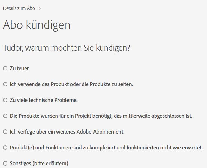 Mitgliedschaft Oder Abo Stornieren Adobe Acrobat Document Cloud