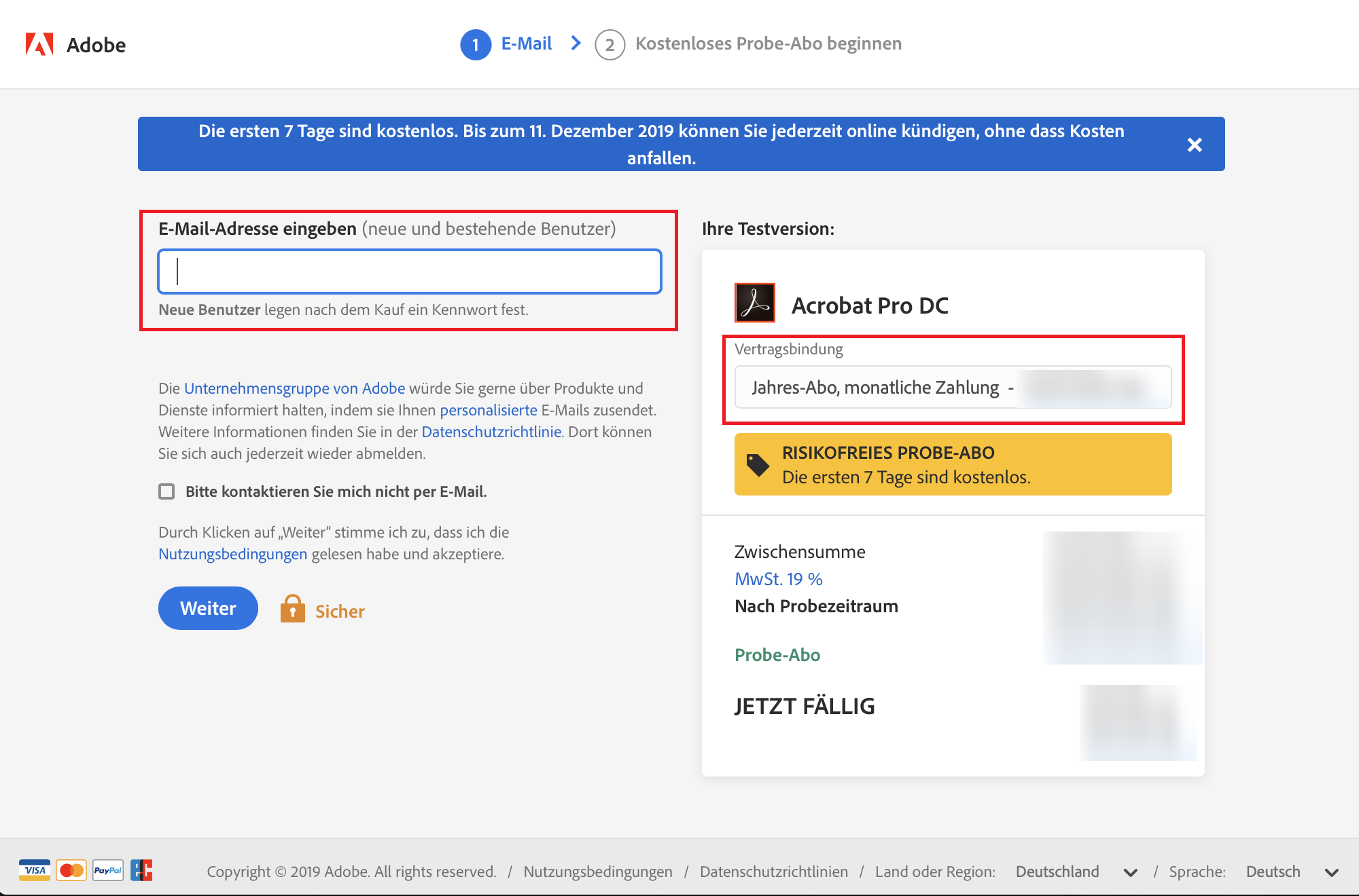 Adobe testversion kündigen