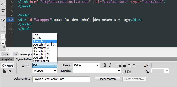 Website in Dreamweaver erstellen: Teil 2 – HTML-Inhalte hinzufügen ...