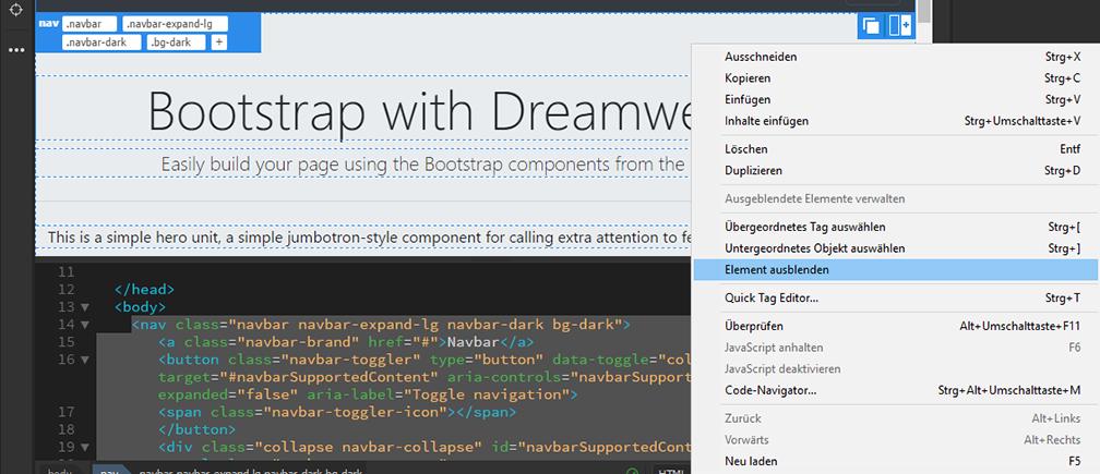 Entwerfen von Responsive-Websites mit Bootstrap