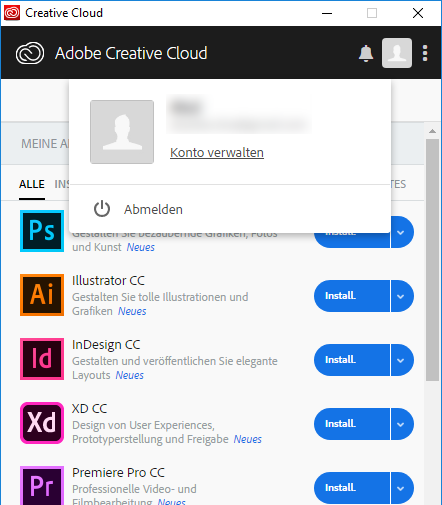 Creative Cloud-Applikation