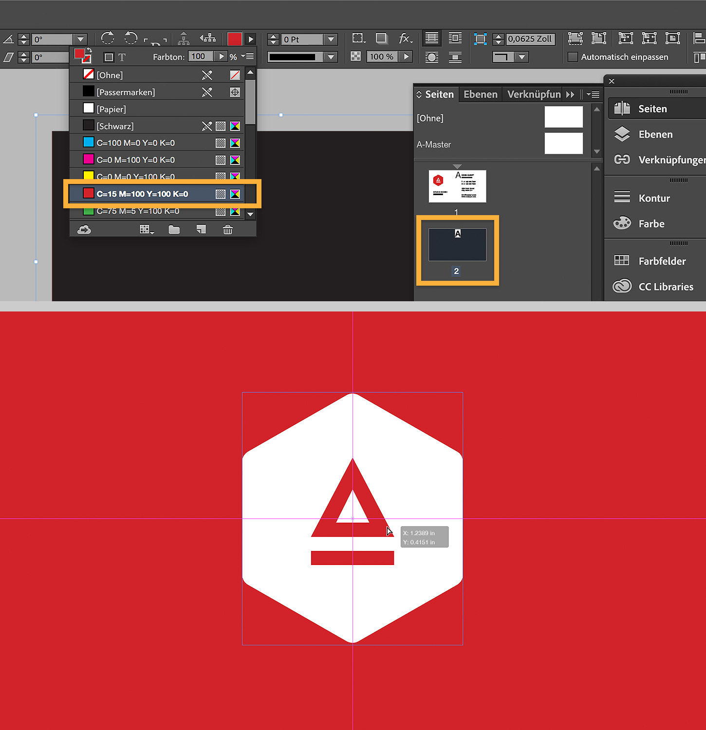 Visitenkarten In Indesign Gestalten Adobe Indesign Tutorials