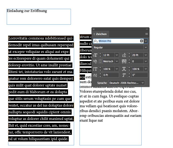 Einladung erstellen Formatierung ficial Adobe Tutorial