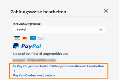 paypal kontaktadresse