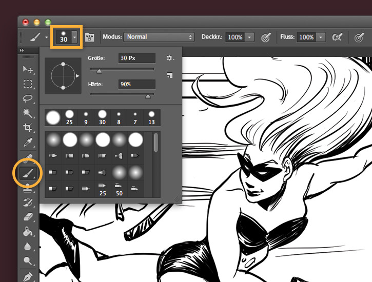 Drawing Lines In Photo Elements : Comics farbig gestalten adobe photoshop cc Übungen