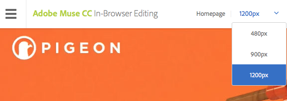 In-Browser Editing für responsives Layout