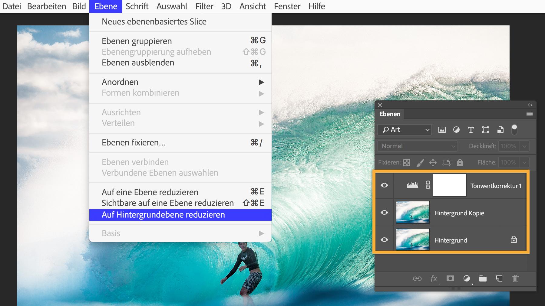 Ein Bild in Photoshop einrahmen | Adobe Photoshop CC-Übungen
