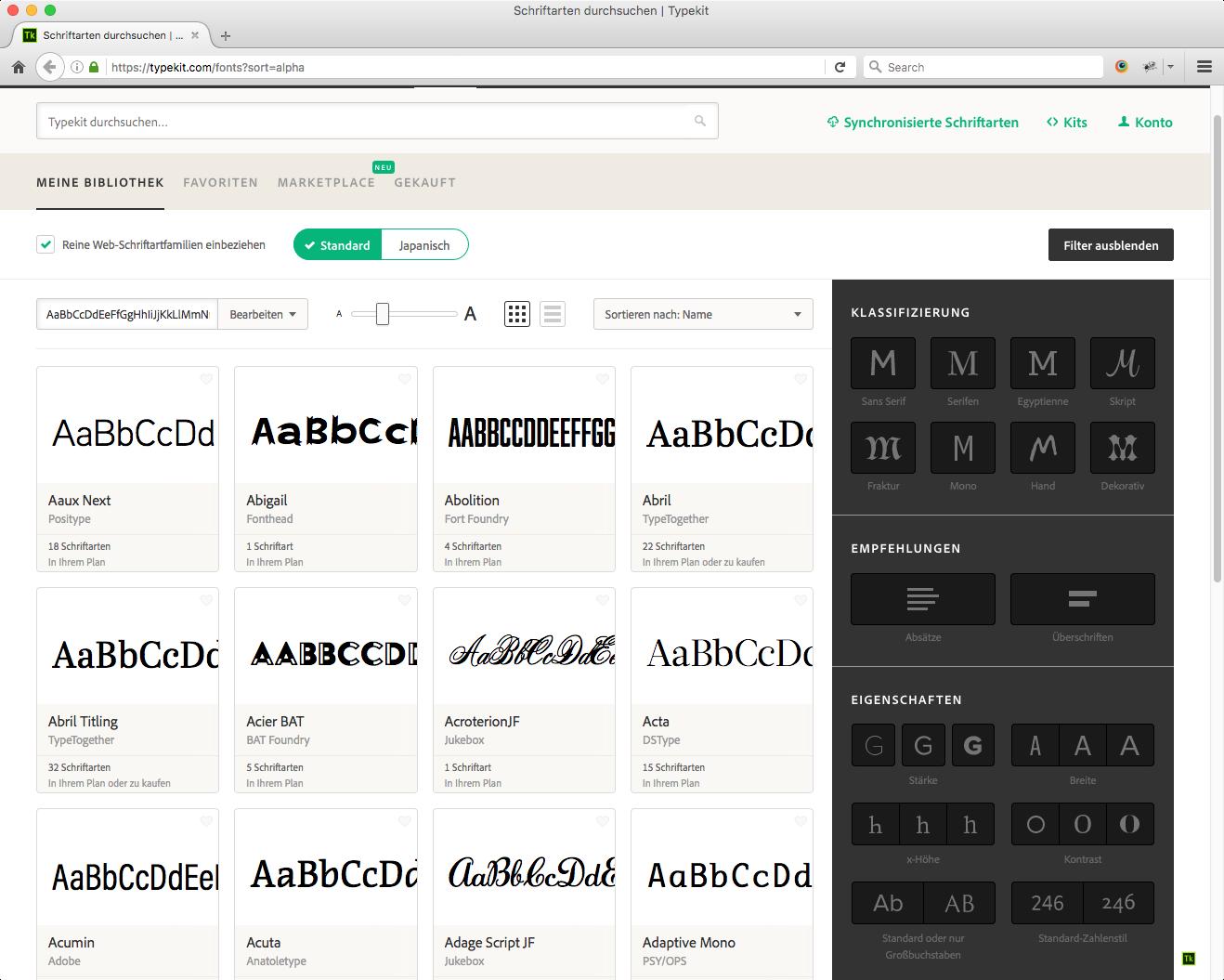 Hinzufügen von Schriftarten zu Ihrer Website