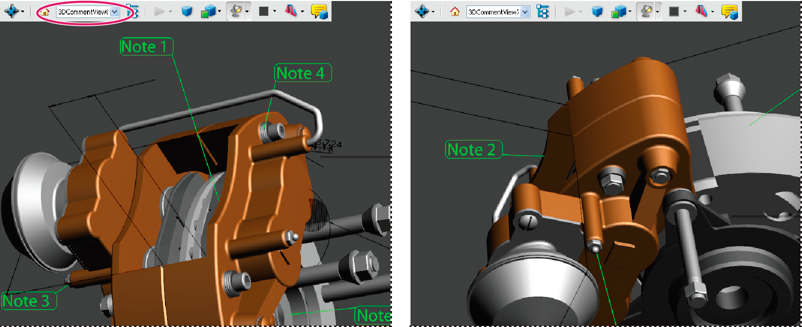 Adding comments to 3D model views