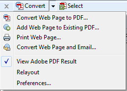 PDF toolbar menu