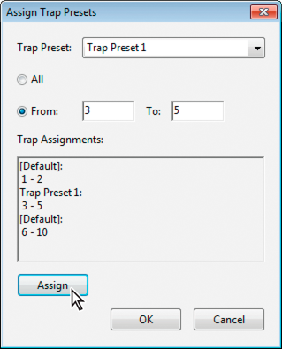 Assign a trap preset