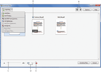 Combine Files dialog box