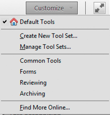 Customize your toolbar and Tools pane
