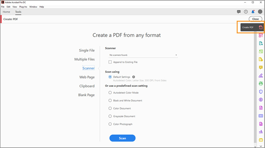 How To Create A Pdf File From Any Document Format Tutoriales De Adobe Acrobat Dc