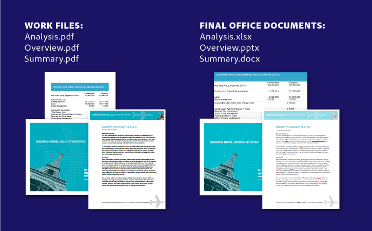 Export PDF's to Microsoft Office formats
