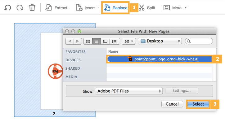 how to save only certain pages of a pdf mac