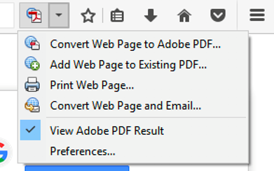 Create PDF add-on for Firefox