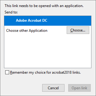 Launch in Acrobat DC