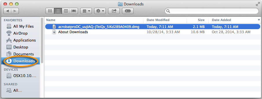 Downloads folder Mac OS