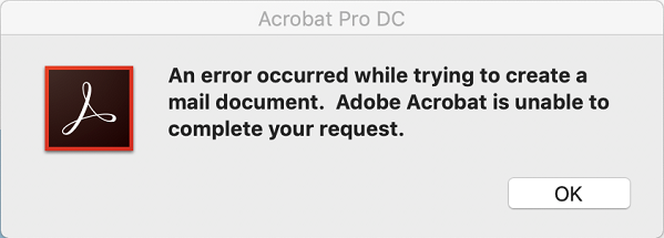 Error while creating a mail document