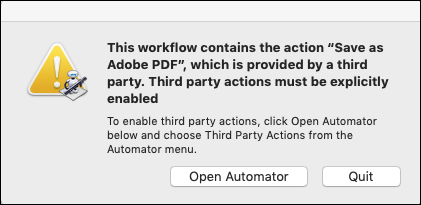 Save As Adobe PDF error