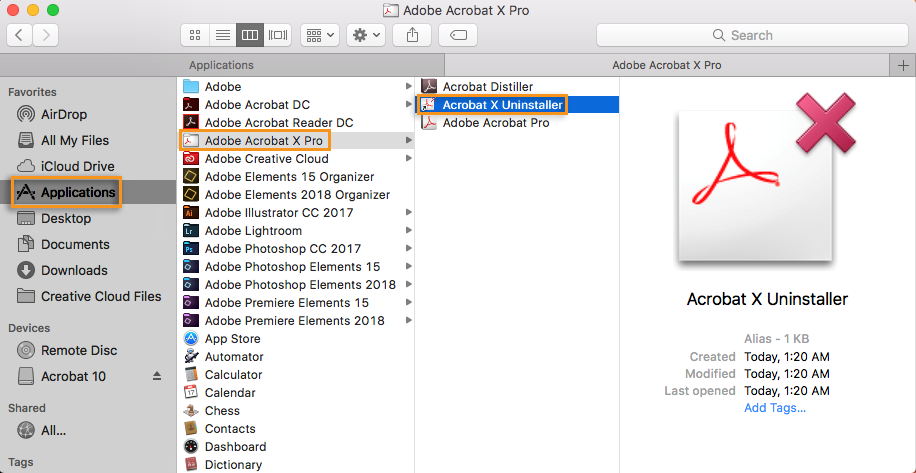 adobe acrobat reader x mac