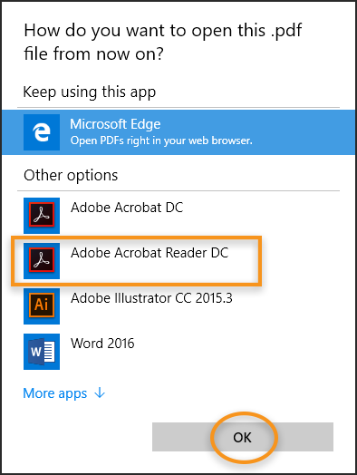Associate PDF files to always open in Acrobat or Reader on