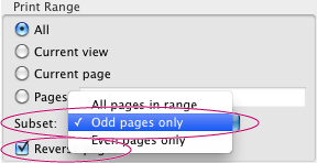 Select the Reverse Pages option